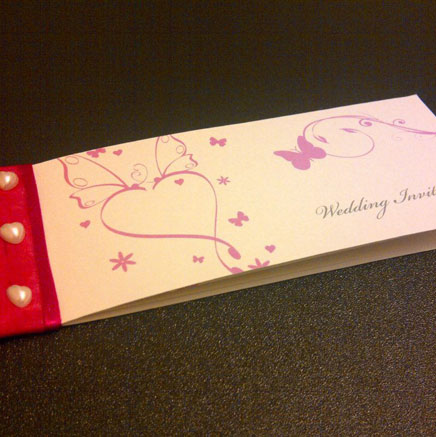 Wedding Invitations Cheque Book Style